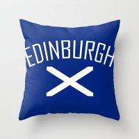 edinburgh Throw Pillows featuring Edinburgh by Earl of Grey