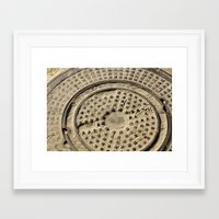cosima Framed Art Prints featuring Sewer Cap by Cosima Higham