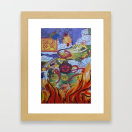 Burnin' Paper 2 Framed Art Print