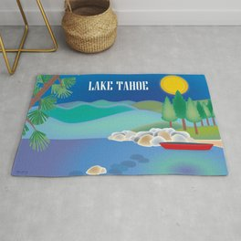 Lake Tahoe - Skyline Illustration by Loose Petals Rug