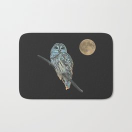 Owl, See the Moon (Barred Owl) Bath Mat
