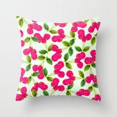Cherry Picking #society6 #decor #buyart Throw Pillow