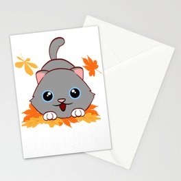 Fall Autumn Pawtumn Cats Claw Collection Tree Leaves Cat Pet Feline Claw Claws T-shirt Design Stationery Cards