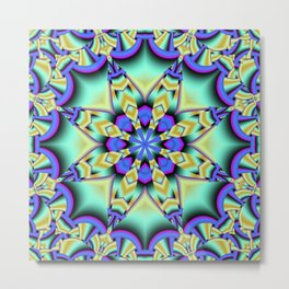A touch of Spring, fantasy flower pattern design Metal Print