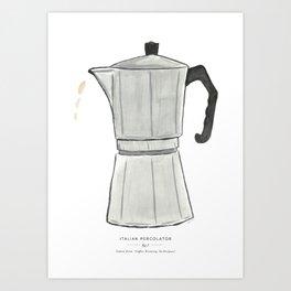 Italian Percolator Coffee Art Print