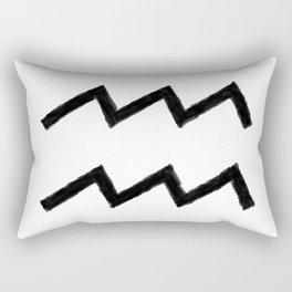 AQUARIUS SYMBOL IN OIL Rectangular Pillow