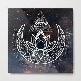 Lunar Eye Metal Print