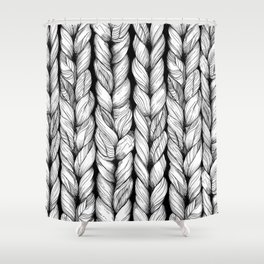 Knitted Shower Curtain