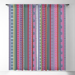 Ethnic Peruvian Striped Pattern Blackout Curtain