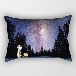 calvin and hobbes dreams Rectangular Pillow