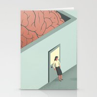 psychology Stationery Cards featuring Brain Room by Davide Bonazzi
