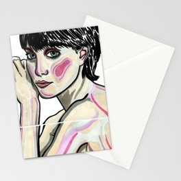 Young Madonna fragmented Stationery Cards