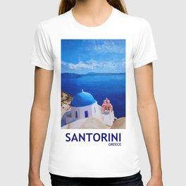 Santorini, Greece - View from Oia Retro Poster T-shirt