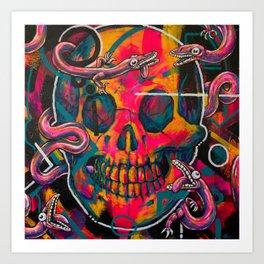 ROSE CRÂNE #1 Art Print