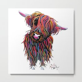 Scottish Highland Cow ' BoLLY ' by Shirley MacArthur Metal Print
