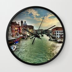 Sunrise on the Grand Canal, Venice Wall Clock
