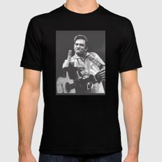 Johnny Cash III Black LARGE Mens Fitted Tee