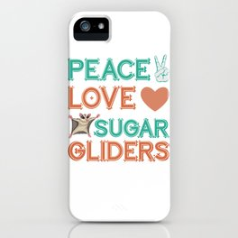 Sugar Glider Hippie iPhone Case