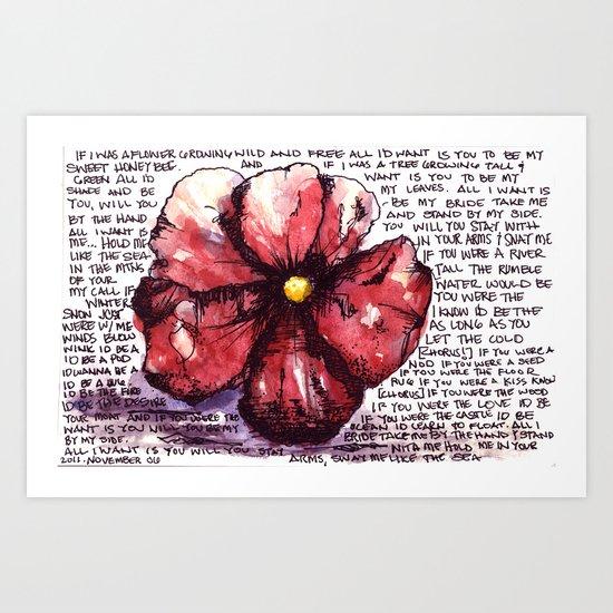 Juno Flower Art Print