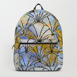Fairytale Gold Dust Sprinkled on Art Deco Pattern Backpack