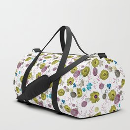 Snow large floral on white Duffle Bag