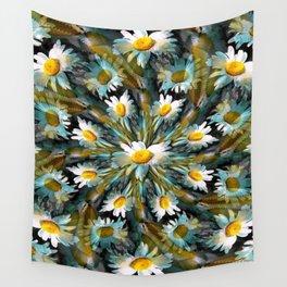 Shasta Daisy Abstract 3 Wall Tapestry