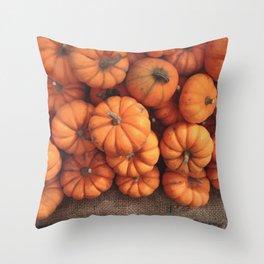 The Avant-Garden Forage || Pumpkins  Throw Pillow