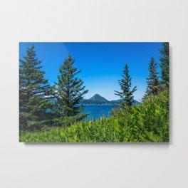 Framed Mountain Metal Print