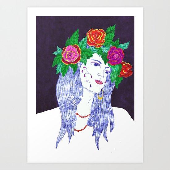 Girl in Dream Art Print