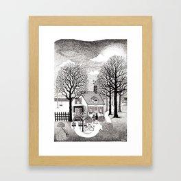 Let's Make a Home, Autumn - Illustrated by: Taren S. Black Framed Art Print