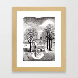 Let's Make a Home, Autumn - Illustrated by: Taren S. Black Framed Art Print