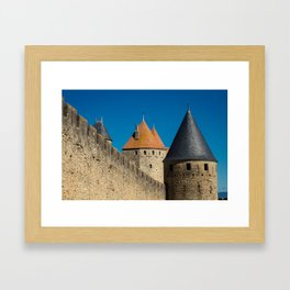 Carcassonne Towers Framed Art Print