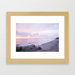 Leo Carrillo Sunset Framed Art Print