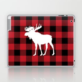Red Buffalo Plaid Moose Laptop & iPad Skin