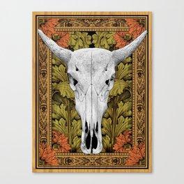 Cow Skull - Bohemian Decoration Canvas Print
