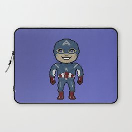 Pixelated Heroes Capt. America Super Hero Laptop Sleeve