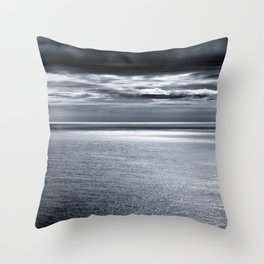 storm over water Throw Pillow