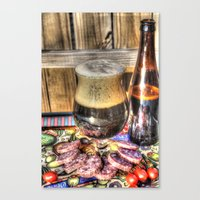beer Canvas Prints featuring Beer by Kent Moody