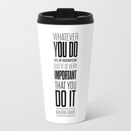 Lab No. 4 - Mahatma Gandhi Inspirational Quotes Poster Travel Mug