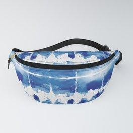 Shibori Tie Dye Indigo Blue Fanny Pack