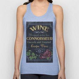 Wine Connoisseur Unisex Tank Top