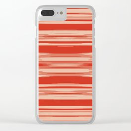 Red Abstract Linear Minimal Pattern Clear iPhone Case