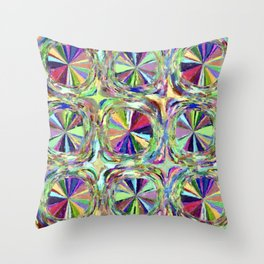 Pinwheel Abstract Painting Throw Pillow