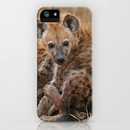 Young hyenas, Africa wildlife iPhone Case