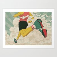 runner Art Prints featuring Runner by Michael Byers