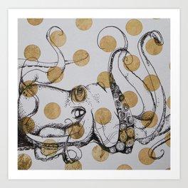 Octopolke Art Print