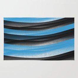 Black Blue Rug