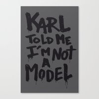 karl Canvas Prints featuring Karl told me... by Ludovic Jacqz