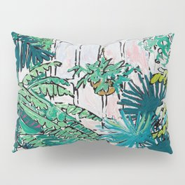 Kew Gardens Sunrise Walkway Greenhouse Jungle Painting London Pillow Sham