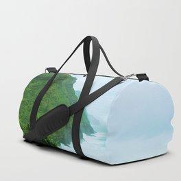 green mountain with blue ocean view at Kauai, Hawaii, USA Duffle Bag